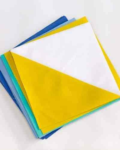 Half Square Triangle quilt block Tutorial Method II – Make 4 at a Time!