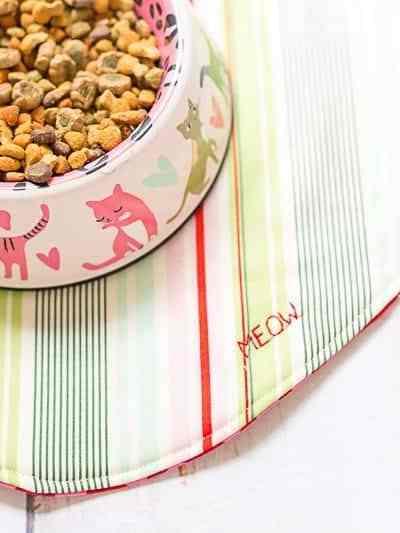 DIY Sew a Fishy Cat Food Mat Tutorial with Meow Mix