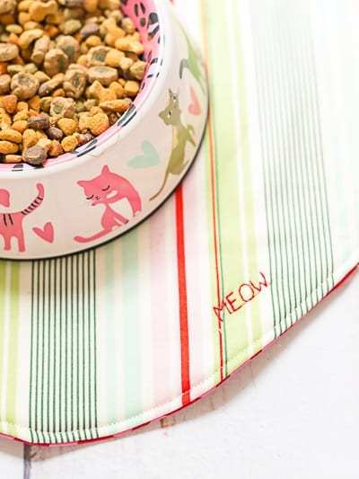 DIY Sew a Fishy Cat Food Mat Tutorial with Meow Mix