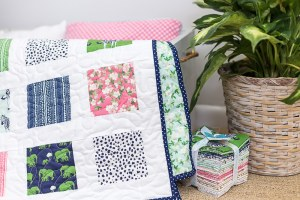 Easy Safari Party Charm Square Quilt and Pattern – Beginner Quilt Pattern