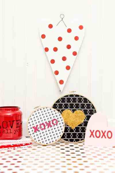 Valentines Day Hoop Art – with Free Cut Files