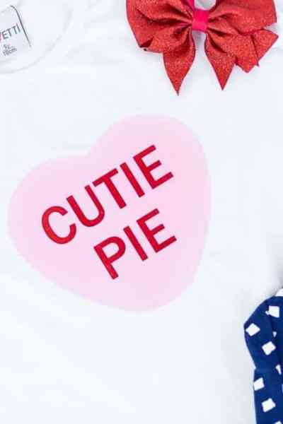 Candy Heart SVG for Valentines T-shirts