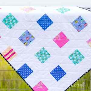 Four Square Simple Charm Pack Baby Quilt and Video! + New Club Havana Fabric