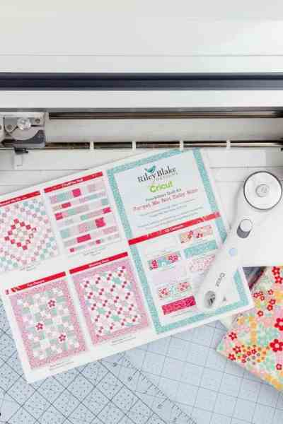 Cricut Maker Quilt Kits – Tips for Cutting Baby Quilt Pattern + Riley Blake Designs Fabric