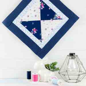 10 Cricut Mini Quilt Patterns to Make with the Cricut Maker + Video! Mini Hourglass Quilt Block Pattern