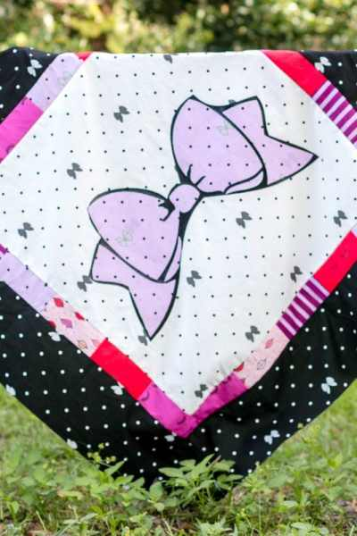 Ribbons and Bows Baby Girl Quilt Pattern + Kiss Me Kate Fabric Line