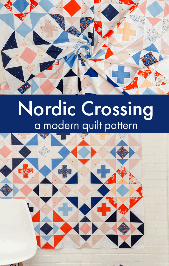 Nordic-Crossing-Modern-Quilt-Pattern-Coral-+-Co