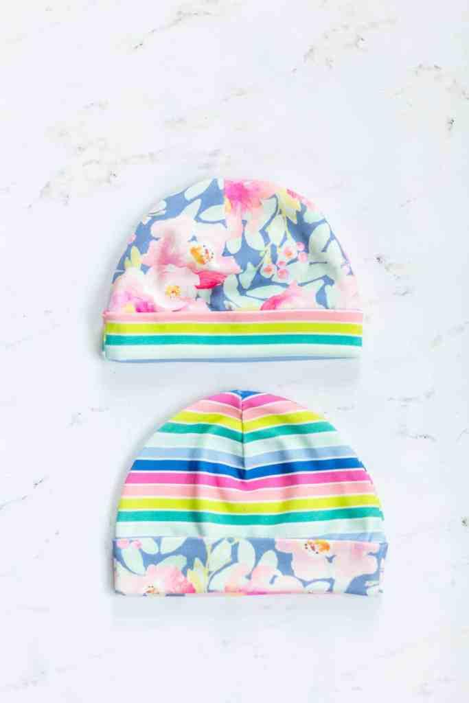 floral-rainbow-newborn-hats