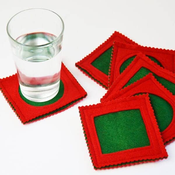 Seam Allowance Practice Tutorial: Simple Felt Coasters DIY