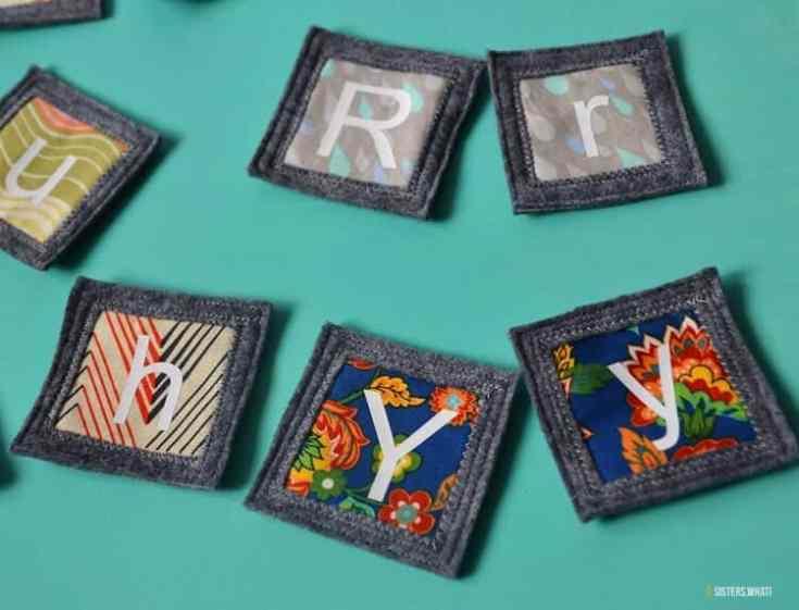Alphabet Scrap Fabric Memory Game
