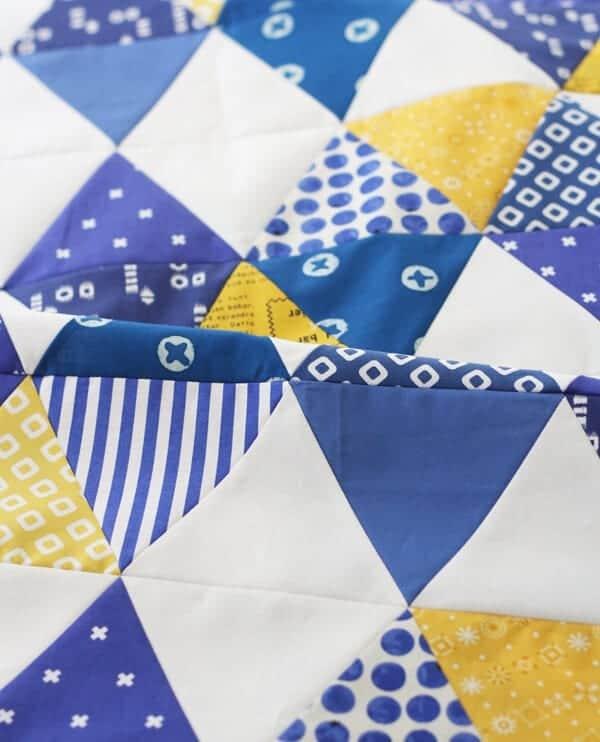 Indigo Triangle Quilt Pattern