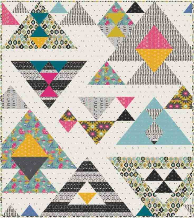 Pyramid Points Twin Quilt Pattern