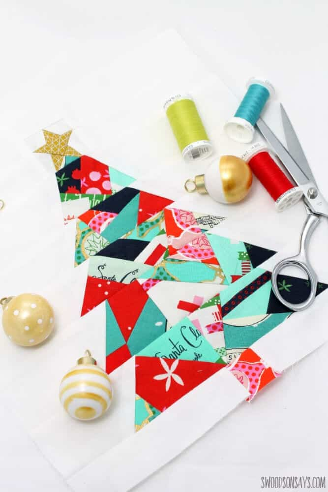 Paper Pieced Christmas Tree Sewing Pattern