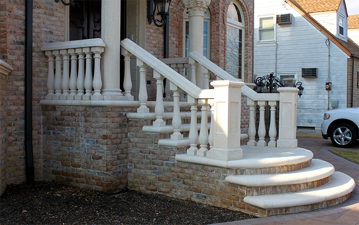 Concrete Balustrade Porch Railings Stair Railings Stair Balusters | Building A Handrail For Concrete Stairs | Deck Railing | Deck | Steel Handrail | Porch | Outdoor Stair