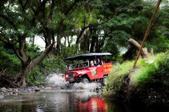 Off Road Cave Safari_Going past streams in the heart of the Sigatoka valley