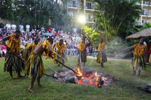 Traditional Fijian Firewalking at Outrigger on the Lagoon Fiji