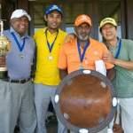 Tournament winners Men at work (L-R Wella Pillay, Ram Reddy, Alvin Singh and S.R Kim)