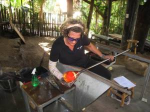 Fiji's one and only glass blowing studio, Hot Glass Fiji