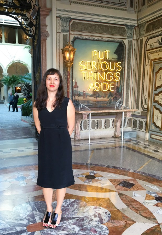 Gina Wouters is the Curator of the Vizcaya Museum in Coral Gables.