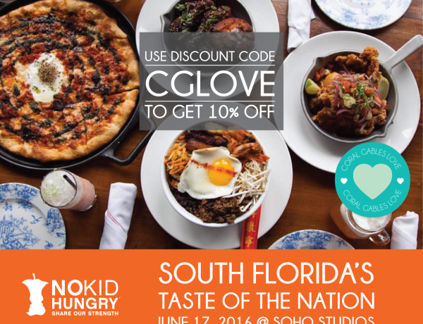 Miami Taste of The Nation Promo Code CGLOVE and get 10% OFF the ticket price