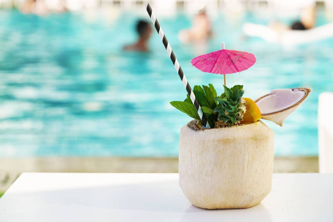 Mondrian South Beach drink by the pool