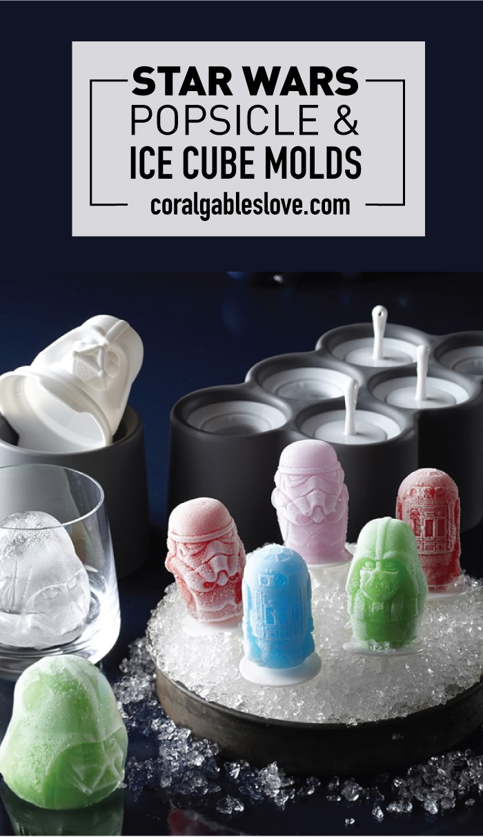 Star Wars Popsicle Molds and Darth Vader Ice Cube Mold. Click to read more or pin and save for later!