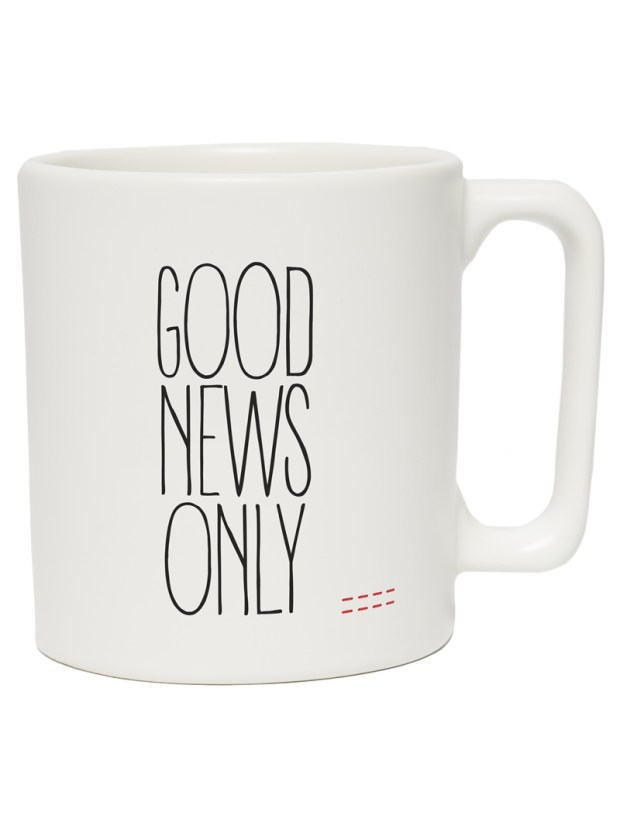 Peace Love World Good News Only Mug