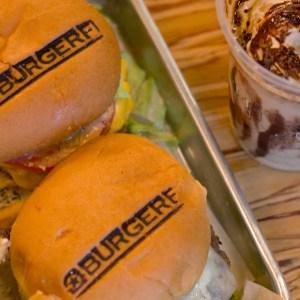 Burger Fi Coral Gables Double Cheeseburger With Coffee Milkshake