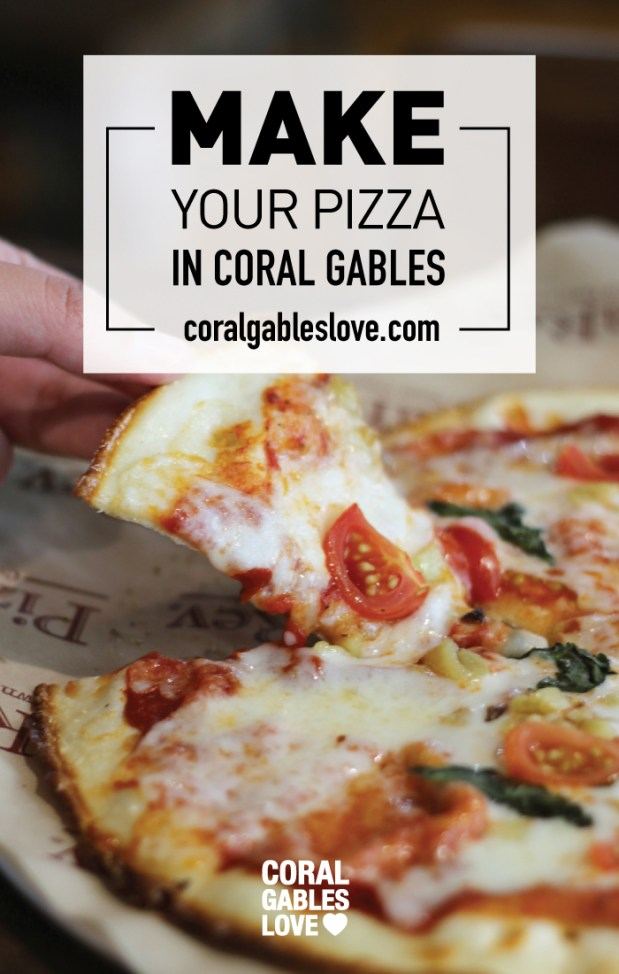 Make Your Own Pizza in Coral Gables, Florida. Miami restaurants