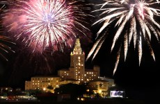 Biltmore Hotel 4th of July Fireworks Coral Gables, Florida. Miami Independence Day Celebrations