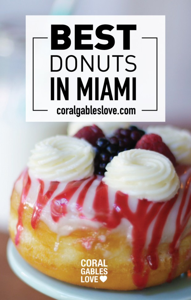 The Best donuts in Miami are Honeybee Doughnuts in South Miami. This is the raspberry coulis flavor.