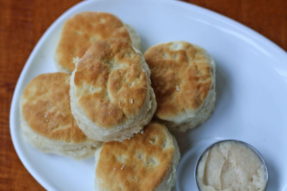 ROK:BRGR South Miami Saturday Brunch Biscuits with honey butter