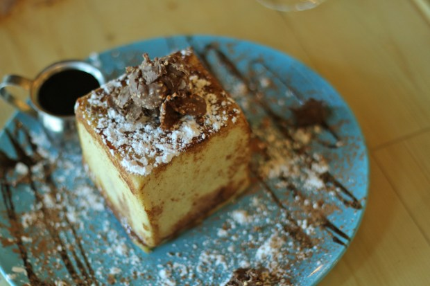 If you love French Toast and Nutella. Check out the Nutella Block at Sushi KONG in Miami. They build a box with french toast slices and fill it with Nutella.