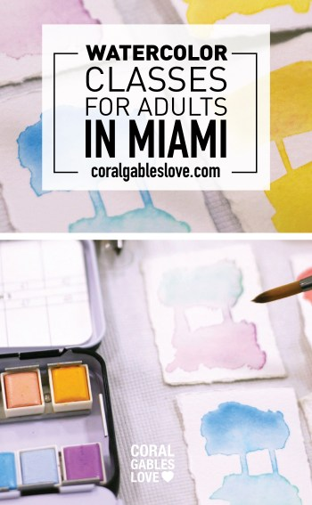 Waterolor Art Classes for Adults in Coral Gables, Florida - Miami