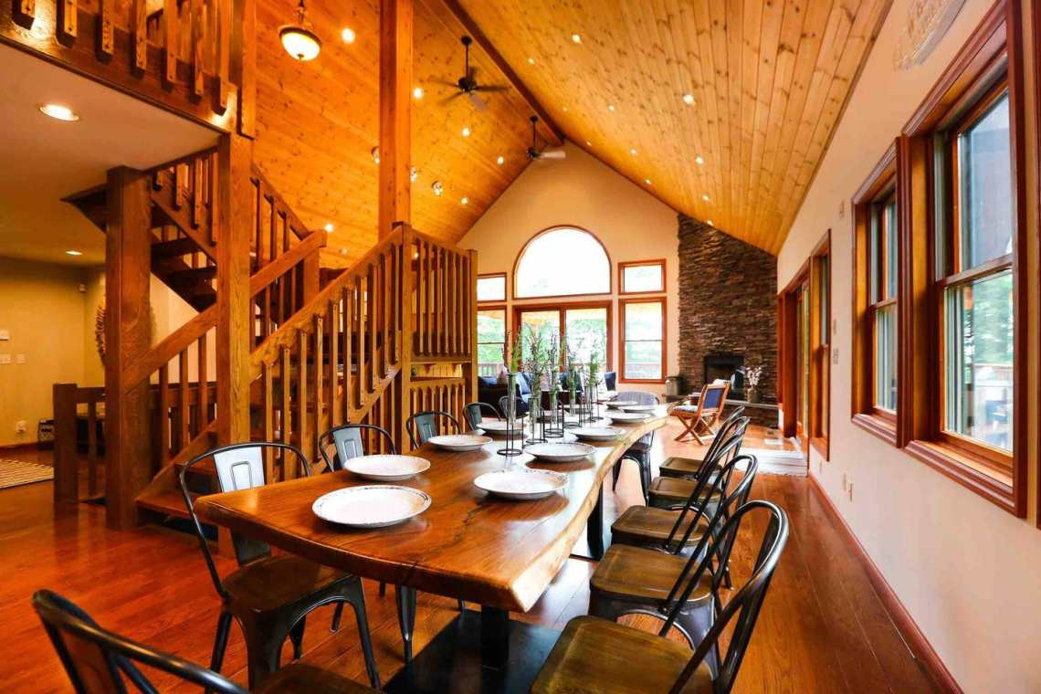 Where To Stay in West Catskills NY - Hirsch Manor luxurious cabin in the forest