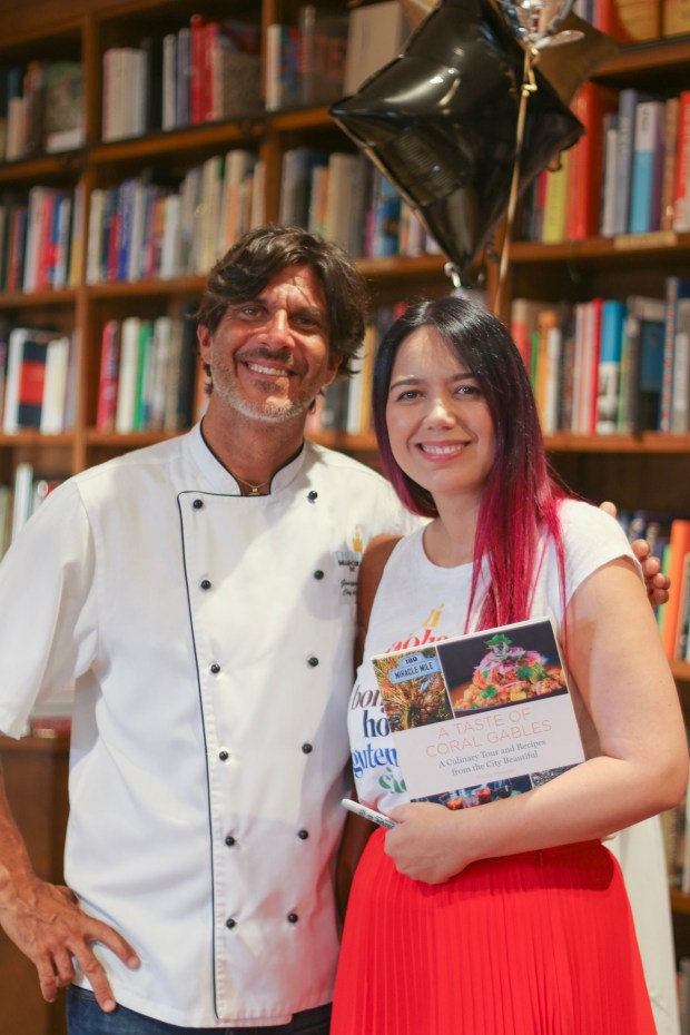 Chef Beppe from La Fontana - A Taste of Coral Gables Book Signing with Author Paola Mendez founder of the blog Coral Gables Love