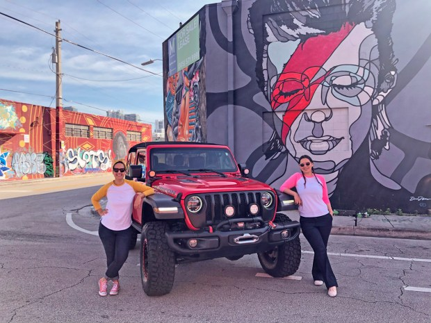 Jeep Wrangler Rubicon Exploring Wynwood murals - Miami, florida