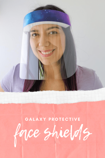 buy galaxy Hexagons Plastic Protective Face Shields In stock