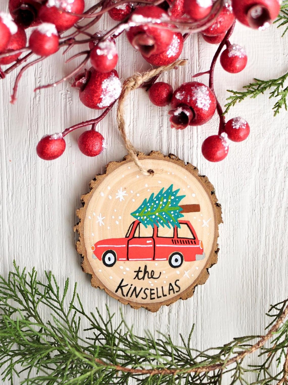 Best Gift For Her Personalized Hand Painted Family Ornament