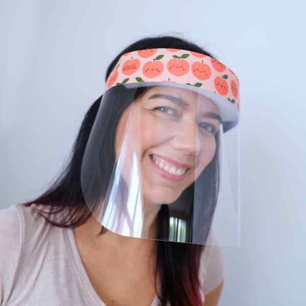 Cute Peaches Protective face shield