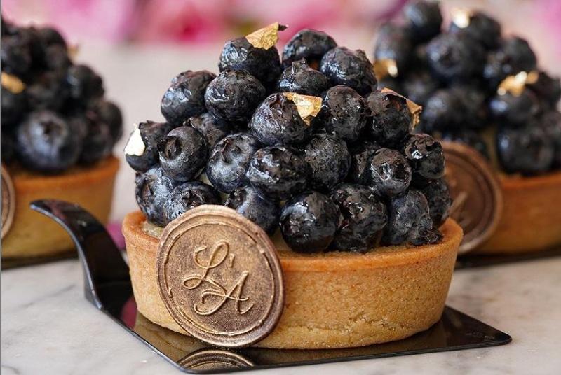 Lartisane Vegan Bakery Coral Gables blueberry tart