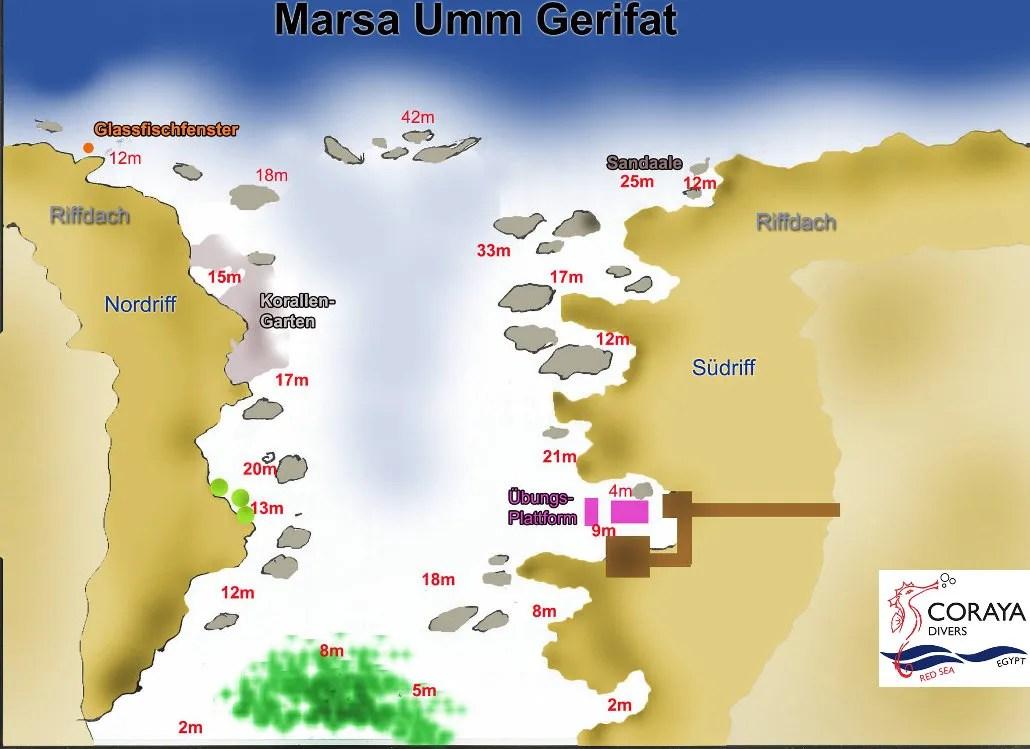 New House Reef Map EN Coraya Divers Marsa Alam