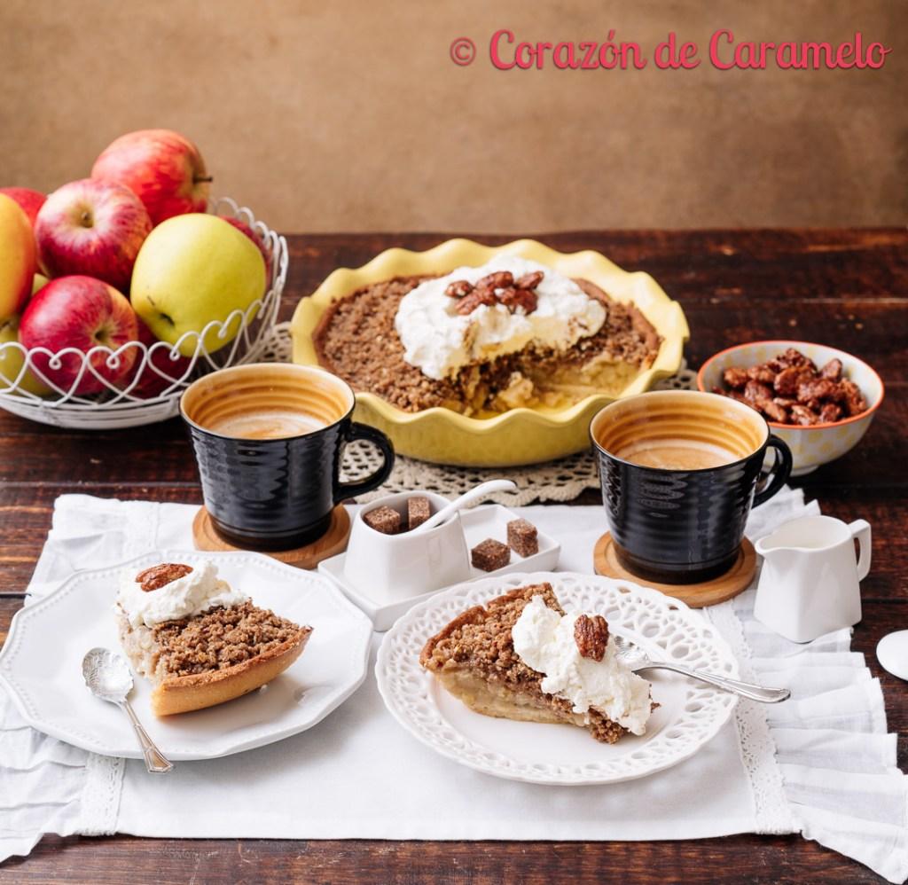Tarta crumble de manzana | Receta casera