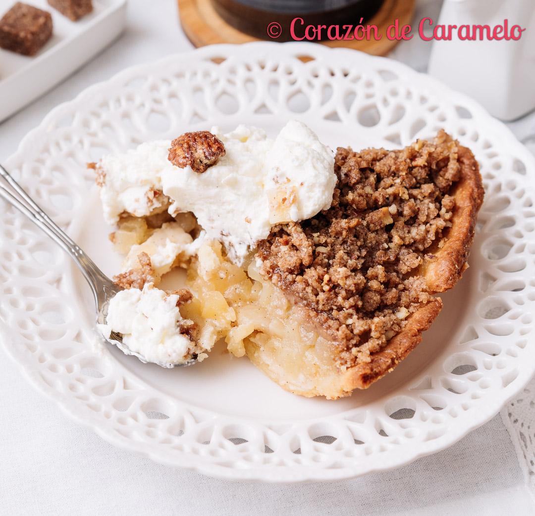 Tarta crumble de manzana   Receta casera