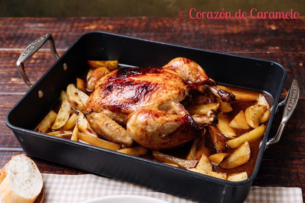 Pollo asado con salsa barbacoa
