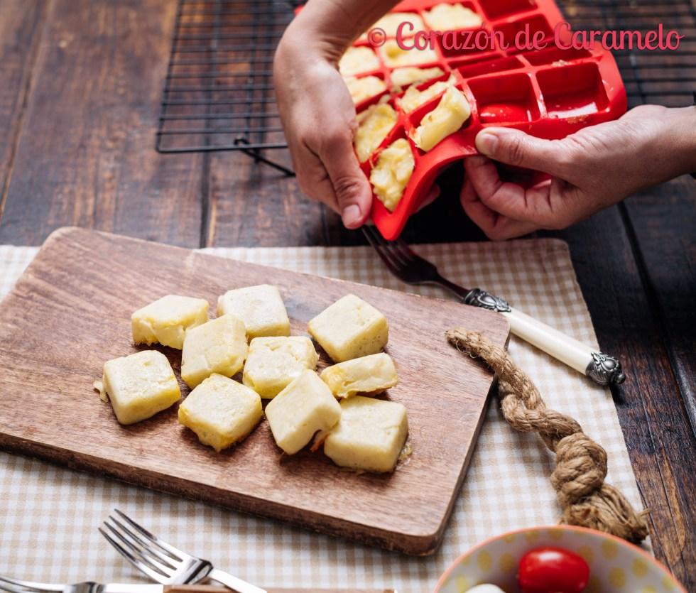 Tortilla de patatas con microondas molde silicona