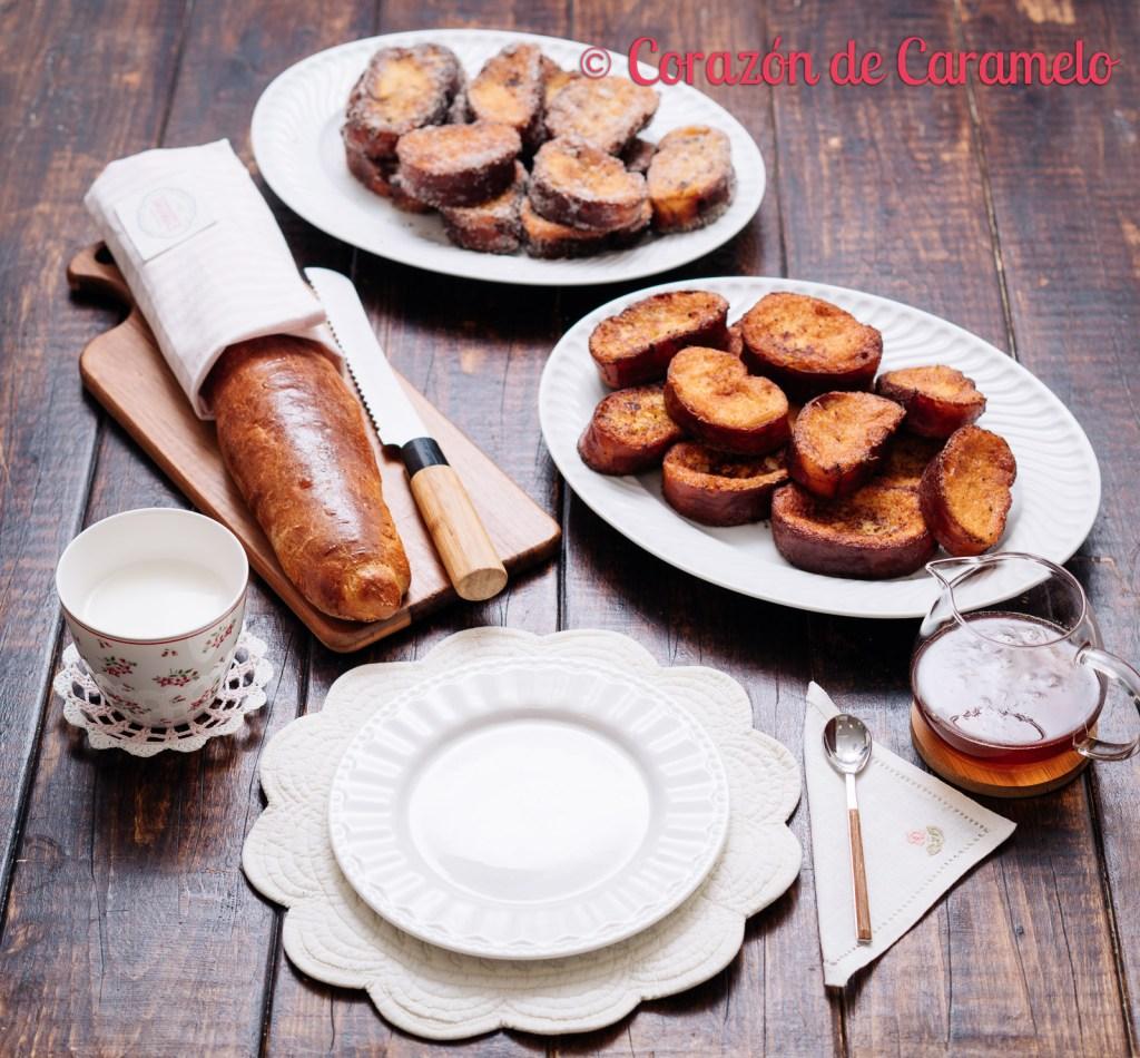 Torrijas tradicionales con pan de brioche