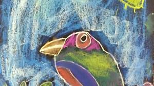 Chalk Pastel Birds K-2nd grade