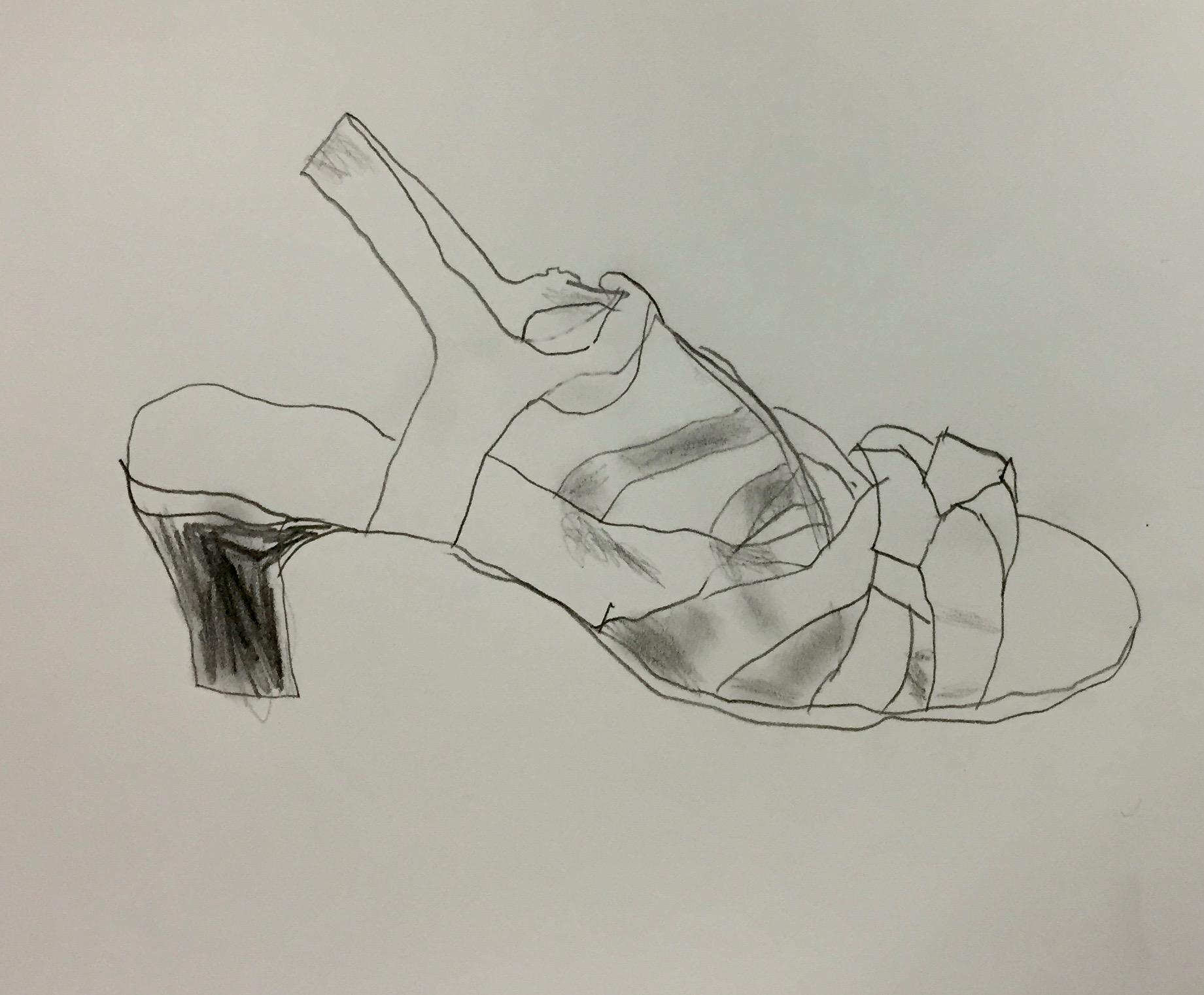 Contour Line Drawing Of A Shoe : Contour shoe drawings u2022 corbie arts