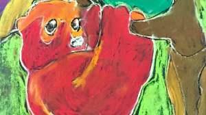 Rain Forest Animals in Chalk Pastel